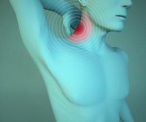 Uomo anatomia dolore al collo, muscoli e testa